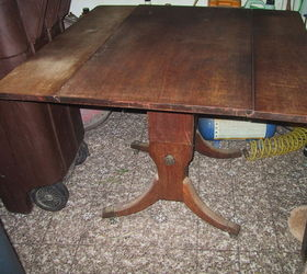 Suggestions on how to refinish a damaged drop leaf coffee table
