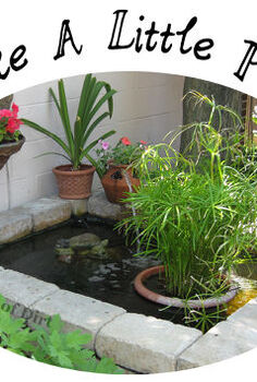 make a little pond, container gardening, gardening, ponds water features, A water feature make every garden better