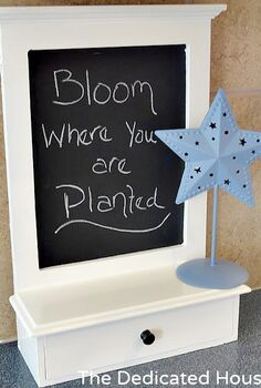 a little makeover for a chalkboard drawer, painted furniture