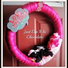 the most romantic and misunderstood creature, crafts, seasonal holiday decor, valentines day ideas, wreaths, Ribbon and yarn come together in this wreath to celebrate Valentine s in a sweet and unique way