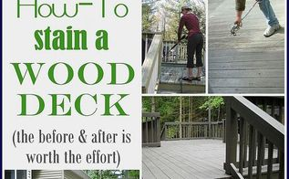 how to stain a deck, decks, home maintenance repairs, how to, painting