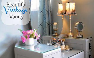 updated vintage vanity or dressing table, painted furniture