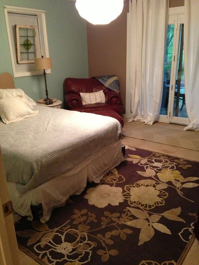 goodbye carpet hello stenciled floor with annie sloan chalk paint