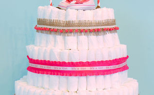 easy steps to making a diaper cake, crafts, repurposing upcycling, Finished
