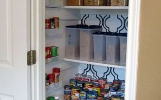 stenciled and organized pantry, closet, painting, After