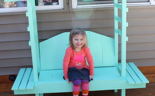 diy kid s garden bench with arbor, diy, woodworking projects