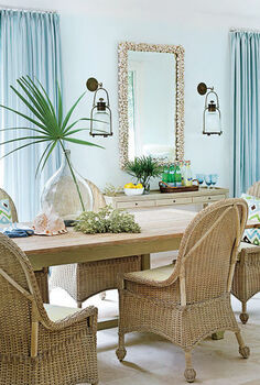 house tour coastal florida home, home decor, Although this overall look is sophisticated sandy tan wicker furniture feels informal and casual Shop the breakfast room