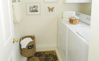 joined the springcleaningchallenge my laundry room was the casualty, cleaning tips, laundry rooms, Now the room is clean functional and pretty The best part I spent no money Click on the post link for a full view of the photos SpringCleaningChallenge