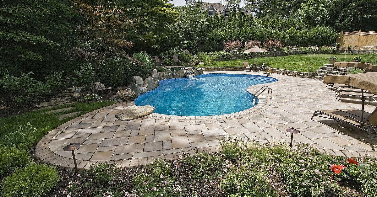 Pool Patio Too Hot Concrete Paver Slabs Look Like Stone