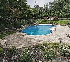 pool patio too hot concrete paver slabs looks like stone and low heat,  concrete masonry