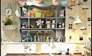 turn an ugly headboard into a lovely bookcase, painted furniture, repurposing upcycling