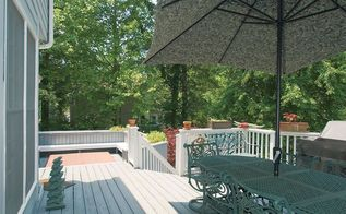 is this rainy atlanta week making anyone else wish for spring in honor of our, decks, outdoor living, pool designs, spas, The view as you walk out of the enclosed sunroom onto the deck
