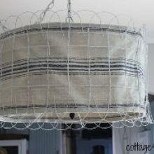 garden fence lampshade, fences, lighting, repurposing upcycling