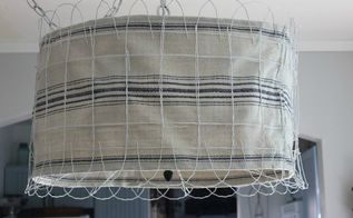 garden fence lampshade, fences, lighting, repurposing upcycling