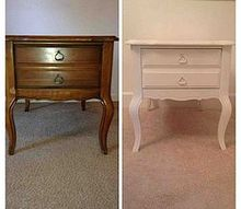 antique end tables before after, chalk paint, painted furniture