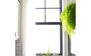 window painting 101, diy, how to, painting, windows, Black painted window sashes
