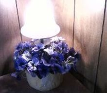 wasn t really found of the accent lamp so i decided to see what i could do to change, flowers, home decor, lighting, redesigned accent lamp with light on