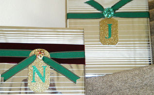 diy monogram gift tags and gift wrapping ideas, crafts, seasonal holiday decor