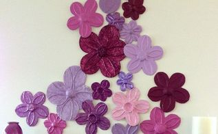 foil flowers wall d cor diy, crafts, home decor, wall decor, Art work can be so expensive and sometimes difficult finding exactly what you want Getting creative is always the best way to go when decorating