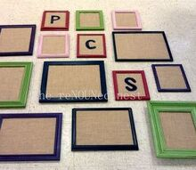 turn found frames into burlap amp cork pinboards, crafts, wall decor
