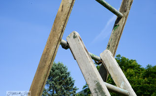 my little good luck garden ladder arbour made in minutes, gardening, landscape, outdoor living, repurposing upcycling