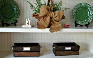 diy vintage crate, crafts, woodworking projects, Vintage DIY Crates for storage
