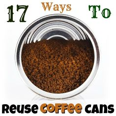 Repurposed coffee cans idea box by raquel organized - What are coffee cans made of ...