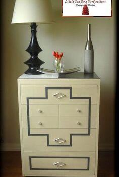 vintage deco dresser before after, painted furniture