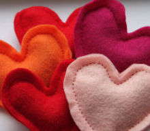 spread warmth this valentinesday, crafts, seasonal holiday decor, Make then in any color or shape you like but these hearts are SO perfect for ValentinesDay