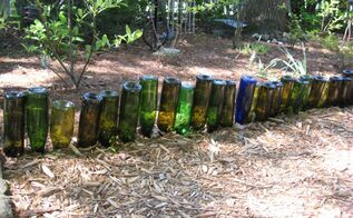 bottle garden edging, gardening, repurposing upcycling, Bottle Garden Edging Itching4Spring