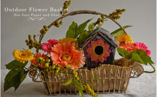 how to make an artificial hanging flower basket for your garden, crafts
