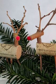 twig amp cork reindeer, crafts, home decor, seasonal holiday decor, wreaths