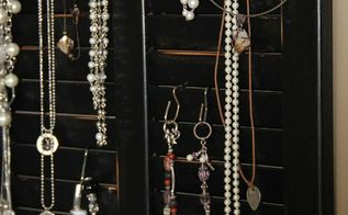 diy jewelry organizer from an old shutter cabinet door, organizing, repurposing upcycling