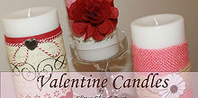 valentine candles, crafts, seasonal holiday decor, valentines day ideas
