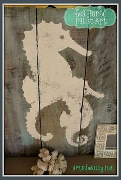 head on over and see how i used some free pallets to make some sea horse pallet art, crafts, pallet, repurposing upcycling