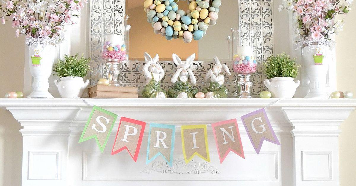 Our 2013 Spring Mantel Hometalk