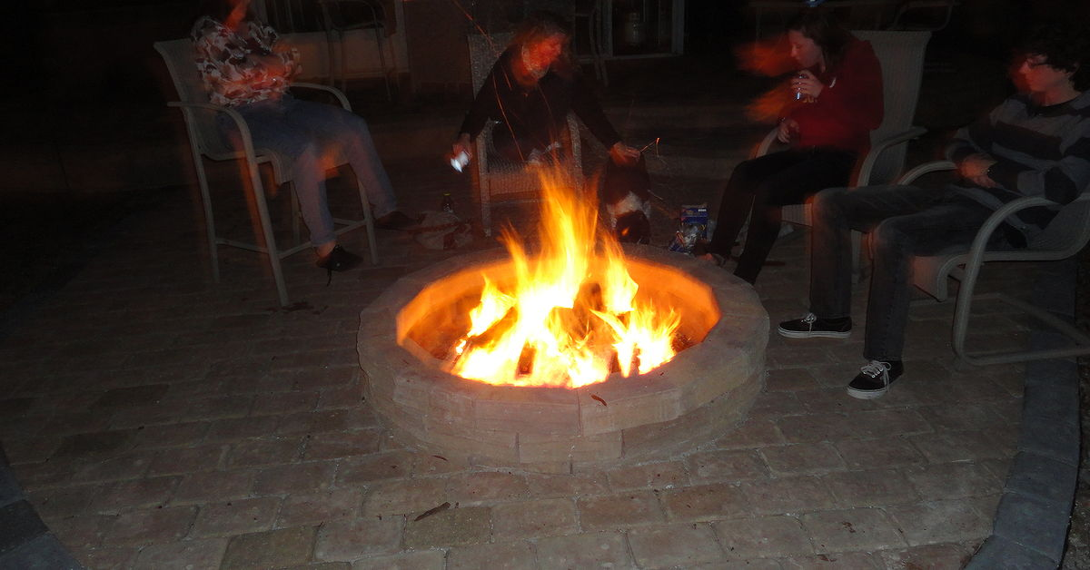 I Lit The Fire Pit For The First Time Tonight.