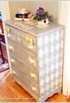 1970 s maple dresser refashioned with annie sloan chalk paint even painted the, chalk paint, painted furniture, I call her Harlequin Romance