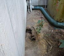 repairing a water main break, The sink hole appears
