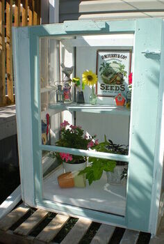 mini greenhouse from old storm windows, diy renovations projects, gardening