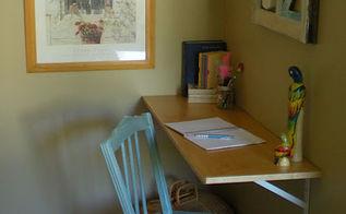 installing a shelf desk, bedroom ideas, painted furniture