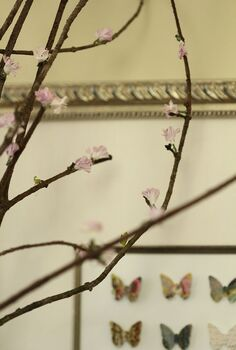 diy faux quince branches, crafts, Detail