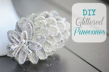 diy holiday decor glittered pinecones, crafts, seasonal holiday decor, wreaths, Place them on your mantel in your tree in wreaths heck what can t you do with your pinecones