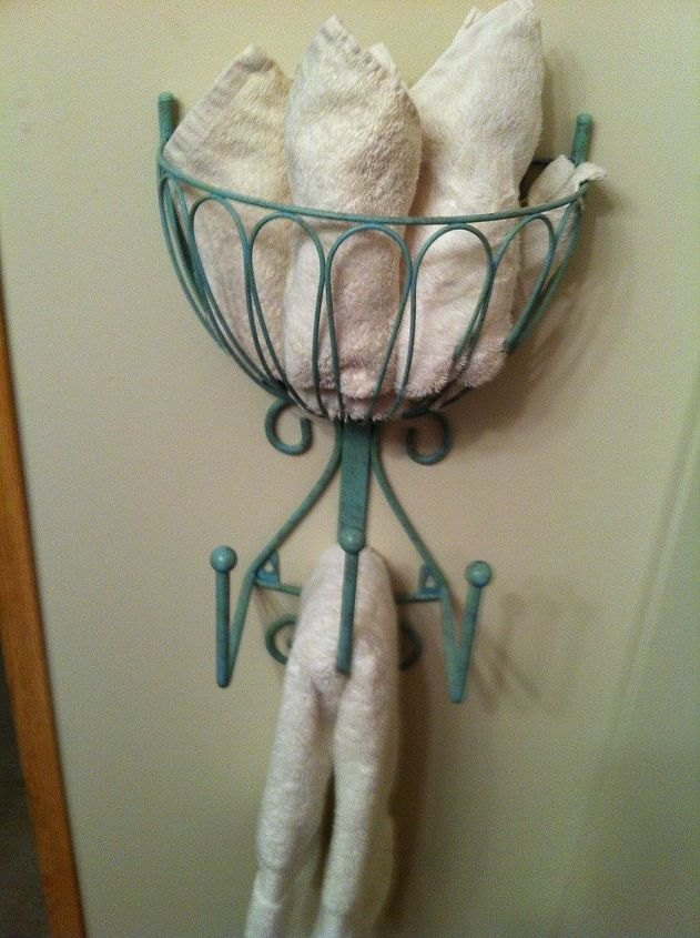 Recycled Hose Holder To Towel Rack For My Small Bathroom Bathroom Ideas Home Decor