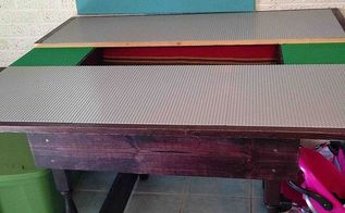 diy lego table, diy, painted furniture, Lego table made from salvages parts