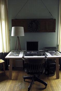 ski pole table lamp, home decor, lighting, repurposing upcycling