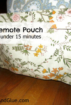 diy no sew remote pouch, crafts