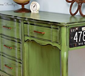 Vintage Green Desk Makeover | Hometalk