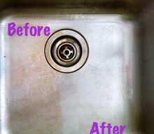 how to make clean a stainless steel sink, cleaning tips