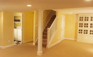 basement remodel, basement ideas, home improvement, Remodeled basement with full bath laundry room rec room and redesigned stairs